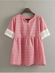 Kant/Katoen Vrouwen - T-shirt - Korte mouw