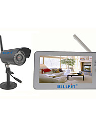 "2.4G Wireless 4CH  DVR 7"" TFT-LCD Monitor Home Security System"