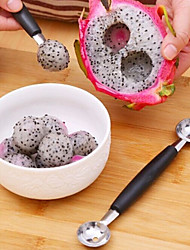 Double Stainless Steel Fruit Spoon Dig Ball Spoon(Random Color)