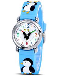 3D Cartoon protection de l'environnement silicone montre à quartz pour les enfants (pingouin) et015