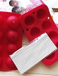 fashoin siliconen lolly snoep chocolade modelleren mal vormgeven taart decoreren bakvormen koken gereedschap (willekeurige kleur)
