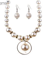 Lureme®Fashion Pearl Pendant Jewelry Sets