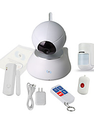 Snov Wireless IP PTZ Surveillance Camera with 4pcs Wireless Alarm Detectors, Motion Detection, Baby Monity SV-VPC2K3