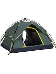 Tenda ( Verde Militar , 3-4 Pessoas ) - Prova de Água/Respirabilidade/Secagem Rápida