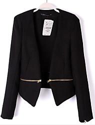 Women's Casual Thin Long Sleeve Short Blazer (Nylon/Cotton Blends)