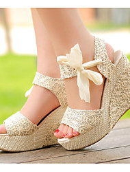 Женская обувь - Сандалии ( PU Туфли на танкетке - Высокий (3 дюйма и более)