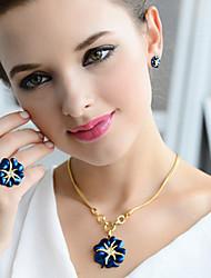 Niedlich / Freizeit - Damen - Halskette / Ohrring / Ring ( Vergoldet / Strass )