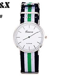 Men's Fashion Stripe Quartz Analog Fabric Bracelet Watch(Assorted Colors) Cool Watch Unique Watch