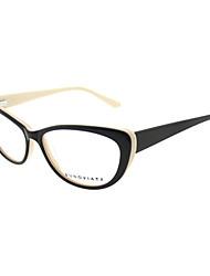 [Lentes livres] acetato de-olho de gato full-jante óculos de grau retro