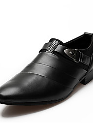 Men's Shoes Casual Leather Oxfords Black/Brown/White