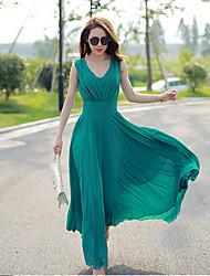 Women's Long Plus Bohemian Chiffon Dress