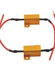 carro universal levou protector resistor de carga para liderada 25ohm lamp-25w (2pcs)