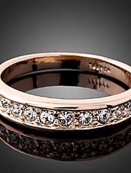 YOONHEEL Women's Fashion High Quality Rhinestone Ring