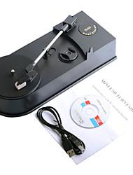 portatile grammofono giradischi in vinile lp a mp3 wav giocatore convertitore usb al pc registratore computer di 33/45 rpm