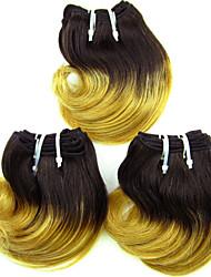 prezzo basso vergine brasiliana dell'onda del corpo dei capelli, colore 1b / 27, capelli umani grezzi tesse vendita calda.