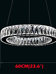 Crystal LED Chandeliers Lights Lighting Modern Single Rings D60CM K9 Large Crystal Indoor Ceiling Light Fixtures