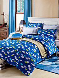 Blue Ocean Seriers Fish Duvet Covers 100% Cottton