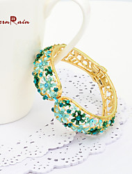 WesternRain Spring Green Small Flower Lady Elegant Bracelet Bangle Canada Party Women Fashion Bangle Jewelry