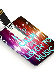 4GB Listen To Music Design Card USB Flash Drive