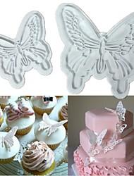 2шт бабочка торт печенье резак поршень Sugarcraft украшения помадной форму
