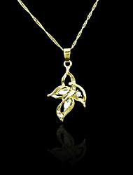 18k verdadeiro pingente banhado a ouro flor 2.2 * 4 centímetros