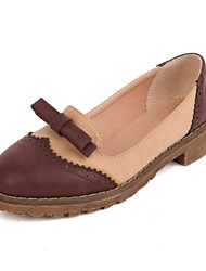 Women's Shoes Leather Low Heel Comfort Round Toe Loafers Party More Colors available