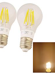 2 pièces YouOKLight E26/E27 6W 6 COB 500 LM Blanc Chaud B edison Vintage Ampoules Globe LED AC 85-265 V