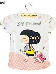 Tee-shirts Fille de Imprimé Coton Eté / Printemps Vert / Rose