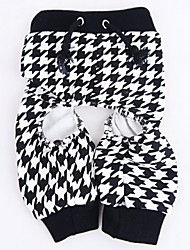 Cat / Dog Pants Black Summer Houndstooth Wedding / Cosplay