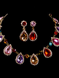 Ensemble de bijoux Femme Anniversaire / Mariage / Fiançailles / Cadeau / Occasion spéciale Parures Alliage Multi-StoneColliers décoratifs