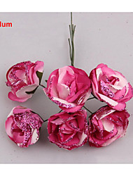 4CM/72PCS Large Artificial Paper Gradient Glitter Roses,Diy Scrapbooking,Garland Accessories,Wedding Decoration bouquet