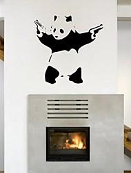 decalques de parede adesivos de parede, banksy panda parede pvc adesivos.