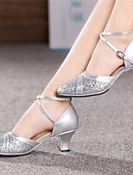 Pumps/Heels ( Caucho , Azul/Dorado/Rosado/Rojo/Plateado )- 3-6cm - Tacón grueso para Zapatos de mujer