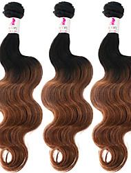 "3 Pcs/Lot 12""-26"" 100% Vietnamese Unprocessed Virgin Human Hair #1B-30 Color Ombre Body Wave Hair Weaves"