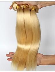 3pcs / lot 8inch-30inch brasilianisches Haar Farbe (# 613), glattes Haar