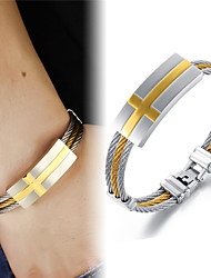 Super Cool Gold Cross Male Hand Catenary of Fine Steel Personality is Made of High-quality Goods