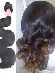 "3 Pcs/Lot 8""-34"" unprocessed Malaysian virgin human hair natural black body wave Free Shipping"