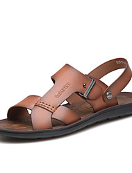 Zapatos de Hombre - Sandalias - Exterior - Cuero - Marrón