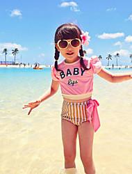Girl's Striped Swimsuit