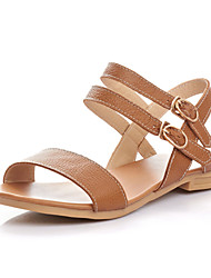 Women's Shoes Leather Flat Heel Slingback Sandals Shoes Dress More Colors available