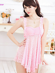 Women Lace/Polyester/Spandex Babydoll & Slips/Chemises & Gowns/Lace Lingerie/Robes/Ultra Sexy Nightwear