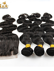3 Pieces Body Wave Human Hair Weaves Indian Texture 350 10-26 Human Hair Extensions