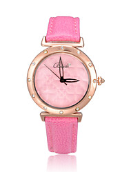 Women's Diamante Heat Pattern Dial Genuine Leather Band Quartz Analog Wrist Watch (Assorted Colors) Cool Watches Unique Watches