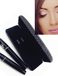 2pcs 3d moodstruck étendu cils fibre cils noirs oeil imperméable cils ensemble de mascara (gel transplantation&fibres)