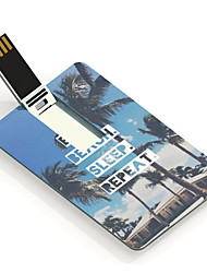 32gb essen Strand schlafen wiederholen Design Karte USB Flash Drive