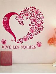 adesivos de parede adesivos de parede, francês parede de pvc rosa adesivos