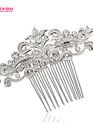 Neoglory Jewelry Flower Bridal Wedding Hair Comb Accessories with Clear Rhinestone for Lady/Daily/Pageant