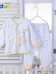Ajiduo Baby Boys Girls Long Sleeve Pure Cotton 2 Piece Clothing Set Infant Sleepwear