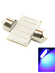 31mm 3W COB LED 200lm Blue Light Dome Festoon Reading Bulb Lamp for Car (DC 12V)