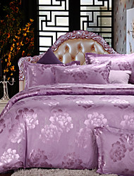 Yuxin®Newcell Jacquard a Family of Four European Cotton  Bedding Set